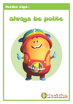Primary PSHE classroom poster - Being Polite