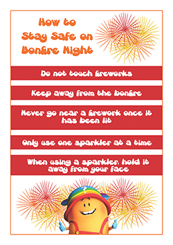 PSHE classroom poster - Bonfire Night Safety