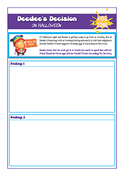 PSHE halloween resources for use in class room with primary children