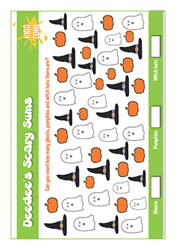 Free PSHE primary lesson for halloween - maths - scary sums!