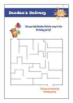 primary lesson plan - The delivery maze