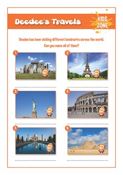 free primary pshe resource - famous landmarks