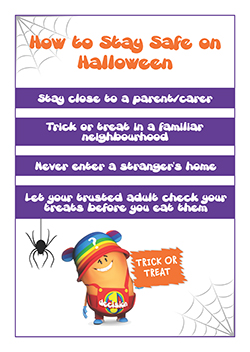 PSHE classroom poster - halloween safety