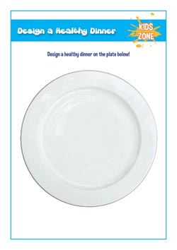 primary school pshe lesson - design a healthy dinner