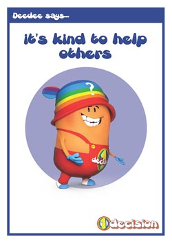 PSHE classroom poster - Being kind