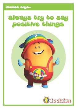 Primary PSHE classroom poster - Being positive