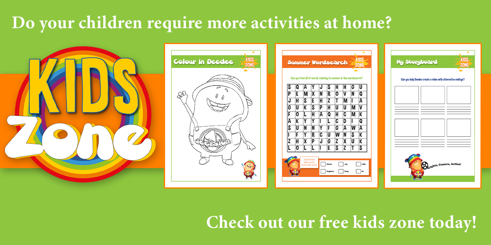 1 Decision Kids Zone Activities