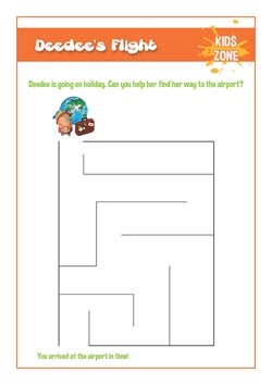 PSHE free primary resource - flight maze