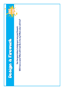Free download - PSHE primary lesson planning - design a firework