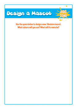 pshe class template - design a school mascot