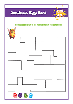 PSHE resources for primary schools - easter egg hunt maze