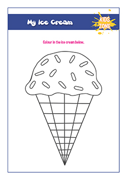 ice cream colouring activity
