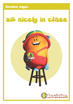 Primary PSHE classroom poster - Sitting Nicely
