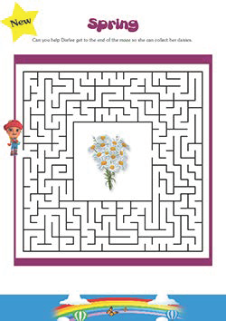 PSHE resources for primary schools - spring maze