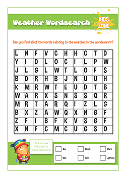 PSHE resources for primary schools - fire safety - rainy day activities wordsearch