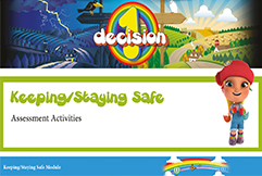 PSHE fire safety workbook showing pshe progress with outcomes and assessment